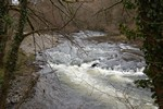 Turbulent waters of the River Wye