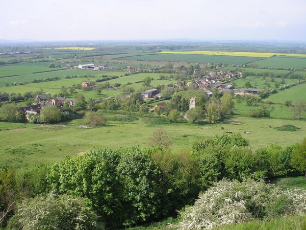 Looking down on Oxenton ©  Dave Mytton