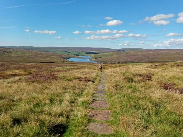 Approaching Walshaw Dean Reservoirs