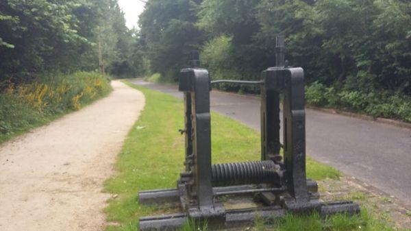 Machinery at Park Bridge Heritage Centre