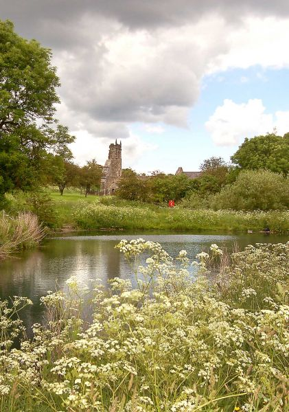 Wharram Percy Mill Pond and Church