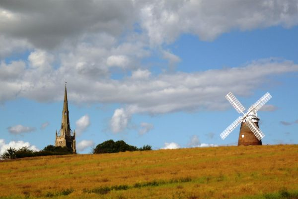 Thaxted Church and Windmill