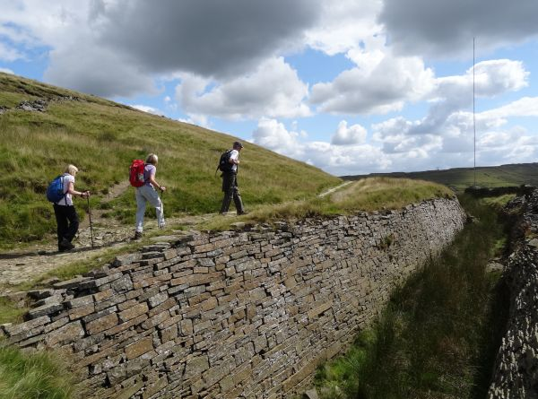 Heading for Cragg Quarry behind the Wind Farm on Scout Moor