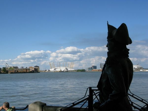 Nelson surveys the Thames Waterfront from Greenwich (GR TQ386780)