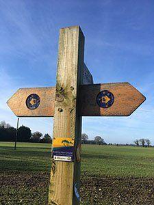 Great Eastern Pingo Trail Sign (Visit Norfolk UK)