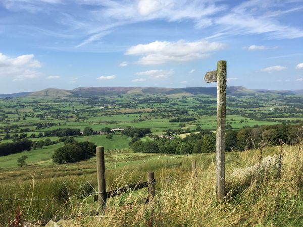 Looking to the Bowland Fells from Longridge Fell