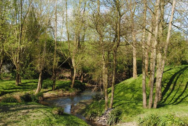 River Isbourne near Hinton Mill © Peter Teague