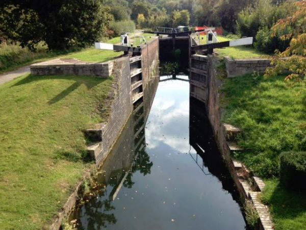 Lock on the Grantham Canal