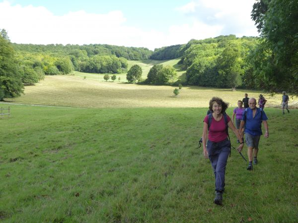 Walkers on Darent Valley Path