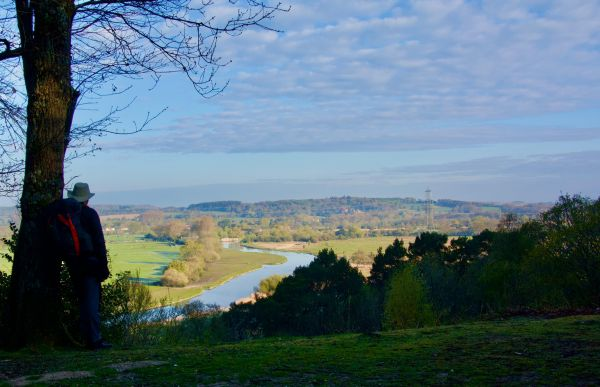 View of the River Avon from Castle Hill just before Woodgreen - Jonathan Dowe