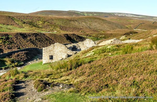Remains of Surrender Smelt Mill outside Reeth