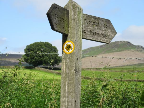 Lady Anne's Way signpost