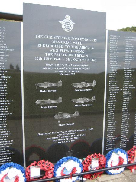 Battle of Britain memorial near Folkestone