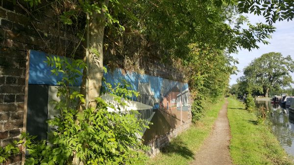 Old railway bridge abutment