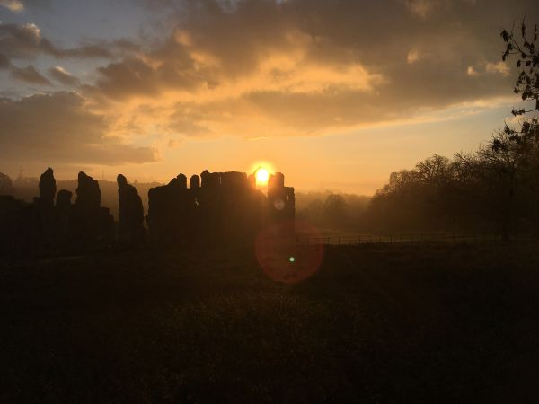 Sunset at Castle Acre Priory (Adam Dawson)