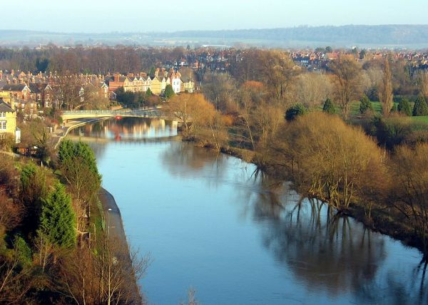 River Severn from Shrewsbury Castle (Wikipedia)