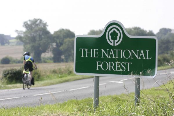 National Forest Trail Cycle Route. Photography by Christopher Beech.