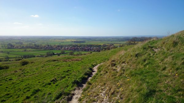 Overlooking Bishop Wilton from the Wolds Way