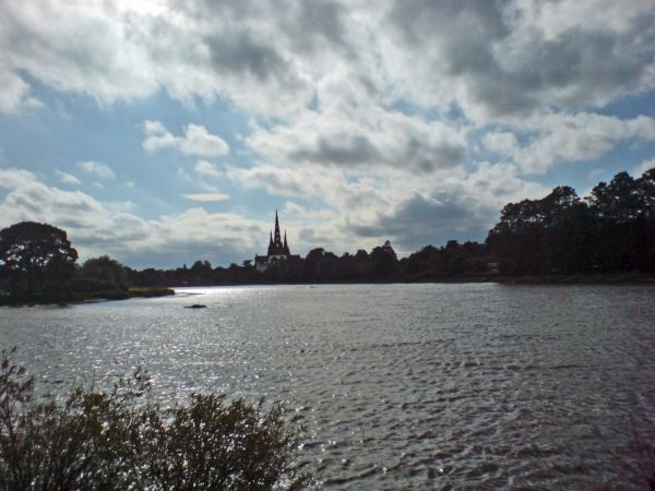 LichfieldCatherdral from Stowe Pool