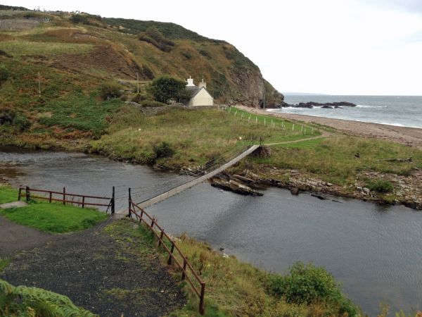 The footbridge at Berriedale