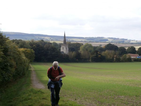 Climb up Deep Dale - Wintringham Church in background