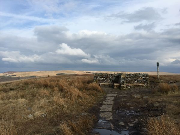 The summit of Great Hill on the West Pennines