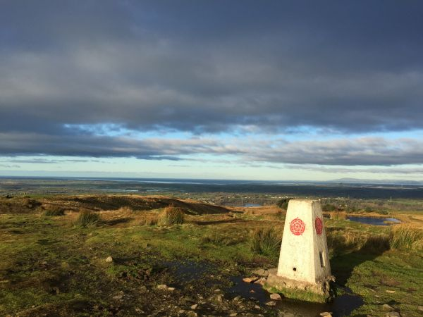 The summit of Nicky Nook looking across Morecambe Bay