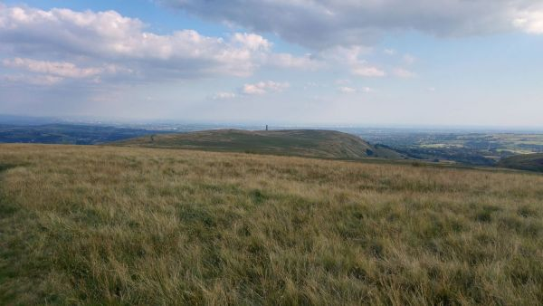 Peel Tower and Manchester from Bull Hill