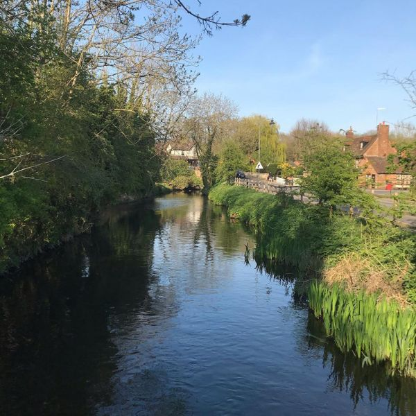 The River Lea running through Lemsford village