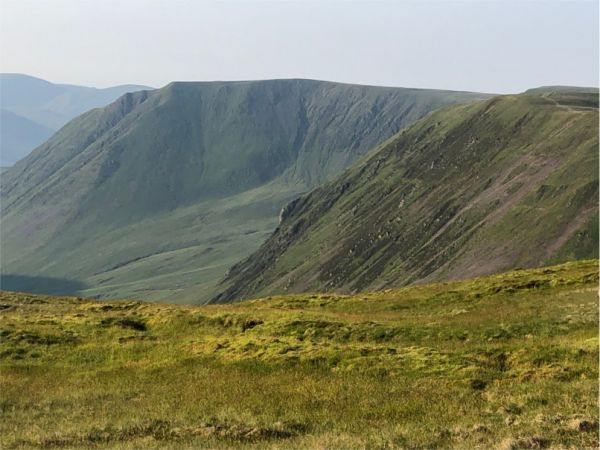 View of Falcon Craig and Black Hope glen from Hartfell Rig - Alan Castle