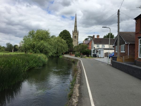 Witherley church and river
