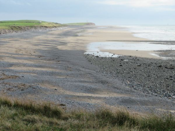 Looking down the coast from Earnse Point, Walney Island