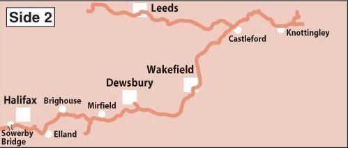 Heron Maps - Leeds and Liverpool Canal: Foulridge to Leeds