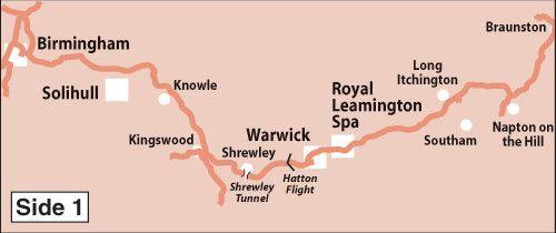 Heron Maps - Grand Union Canal: Birmingham to Milton Keynes Side 1