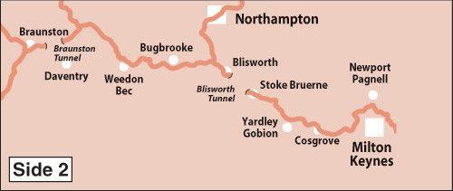 Heron Maps - Grand Union Canal: Birmingham to Milton Keynes Side 2