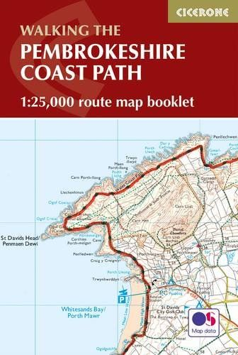 Pembrokeshire Coast Path Map Booklet: 1:25,000 OS Route Mapping (Cicerone Guide)