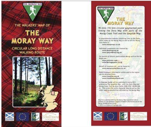 Walkers' Map of the Moray Way: Circular Long Distance Walking Route