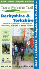 Trans Pennine Trail Map 2 - Central: Derbyshire and Yorkshire