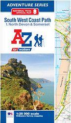 SW Coast Path North Devon & Somerset Adventure Atlas