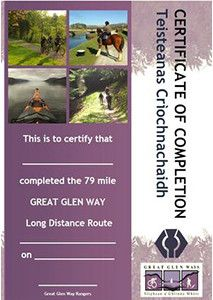 Certificate of Completion Great Glen Way