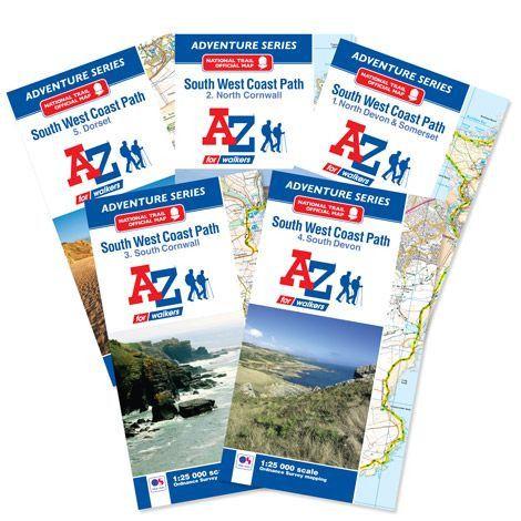 SW Coast Path Complete Set Adventure Atlas