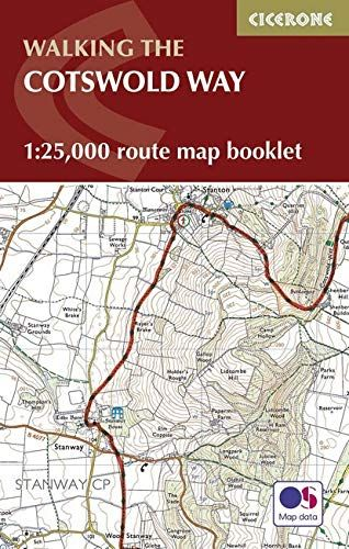 Cotswold Way Map Booklet: 1:25,000 OS Route Mapping (Cicerone Guide)