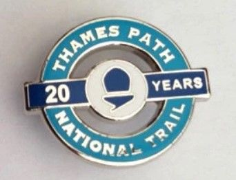 Thames Path 20th anniversary badge