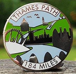 Thames Path pin / lapel badge