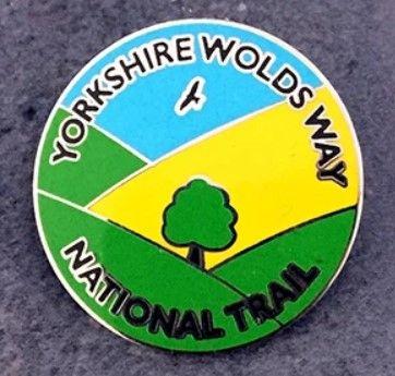 Yorkshire Wolds Way enamel badge