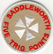Badge & Certificate for Saddleworth Five Trig Points Walk