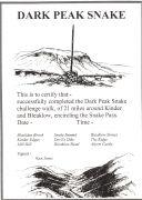 Certificate for Dark Peak Snake