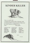 Certificate for Kinder Killer