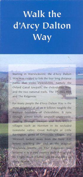 Walk the d'Arcy Dalton Way