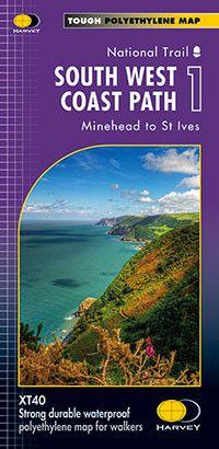 South West Coast Path: Map 1: Minehead to Bude